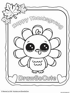 Thanksgiving Turkey Draw So Cute Coloring Pages Printable