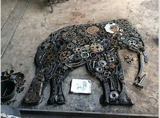 From trash to treasure Thai artist turns scrap metal into
