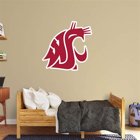 washington state cougars logo wall decal shop fathead