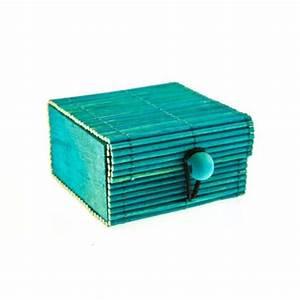 Coffre En Rotin : coffre en rotin turquoise ~ Teatrodelosmanantiales.com Idées de Décoration