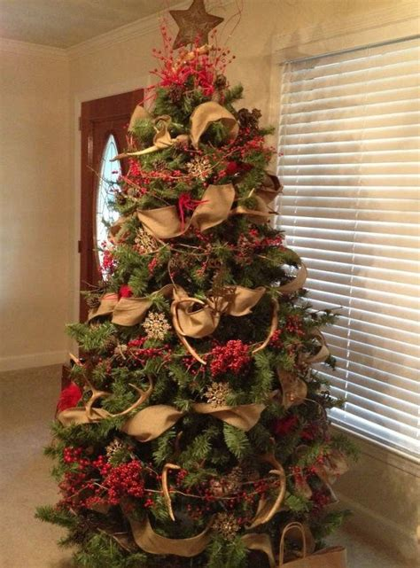burlap themed christmas tree deer antler christmas tree topper google search how to decorate a tree pinterest tree