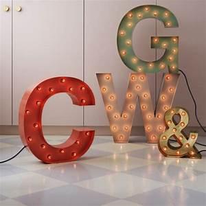 Lettre Lumineuse Deco : lettre lumineuse d co en 14 coloris fabriqu e en su de ~ Teatrodelosmanantiales.com Idées de Décoration