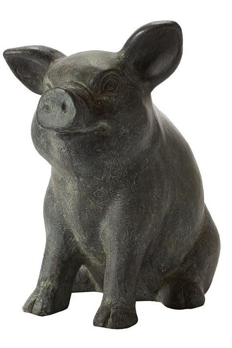 piglet ceramic garden decor pig statue garden statues