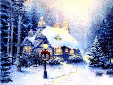 Snowy Cottage Animated Wallpaper - snowy cottage other abstract background wallpapers on