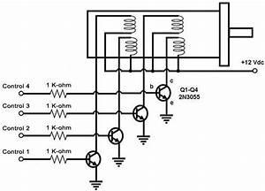 4 phase stepper motor driver circuit awardsprogs With two phase motor driver circuit using sn754410 two phase motor driver