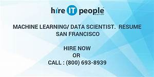 Machine Learning  Data Scientist  Resume San Francisco
