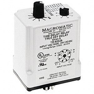 Macromatic Single Function Timing Relay Vac