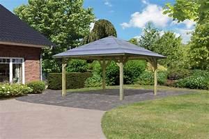 Az Gartenhaus Gmbh : karibu pavillon carport kirn 1 431x431cm kdi 18mm osb ~ Whattoseeinmadrid.com Haus und Dekorationen
