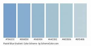 pastel blue gradient color scheme blue schemecolor