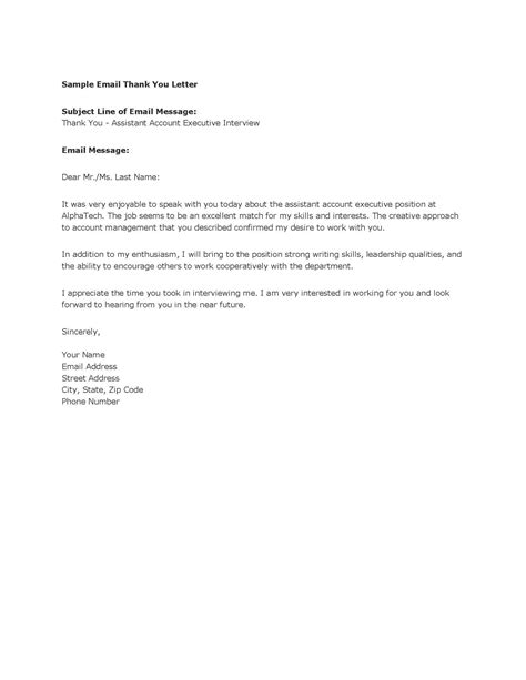 general thank you letter template sle models picture