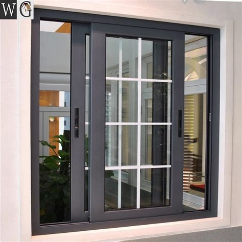 theftproof simple iron windows grills house aluminum sliding window