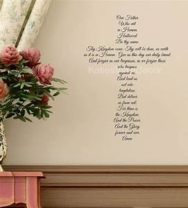 prayer decal prayer stickers the lords prayer With prayer wall decals for religious people