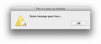Pop Message Mac Apple Window Dialog Balloon