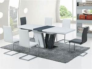 table a manger grise extensible With meuble de salle a manger avec table en verre extensible conforama