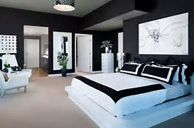 Black And White Master Bedroom Ideas Modern Black And White Bedroom By Interior Design Photographer Zack