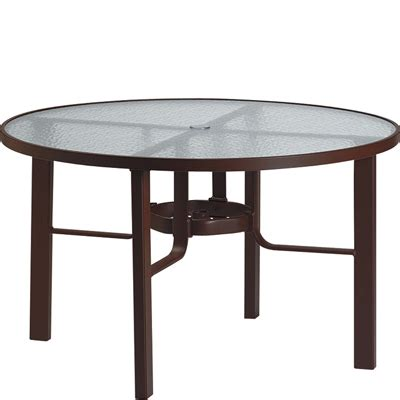 tropitone 730548 acrylic and glass tables 48 inch