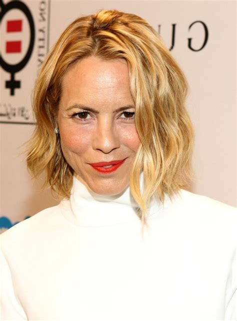maria bello short blonde wavy hairstyle  fall styles