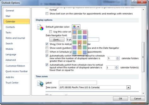change outlook color how to change background color in ms outlook 2010