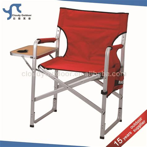 cing aluminium directors chair with folding side table