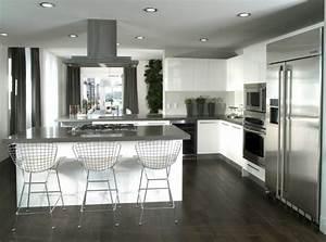 cuisine en l moderne avec ilot en 108 photos magnifiques With amenagement cuisine en l