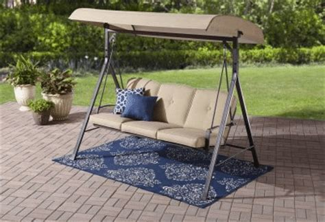 3 person swing with canopy outdoor room ideas