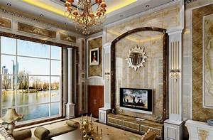 Luxury living room interior design European style