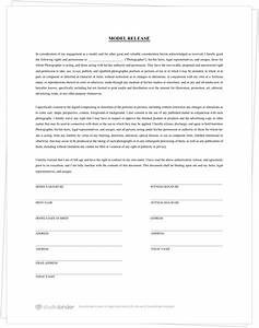 The best free model release form template for photography for Free photography print release form template