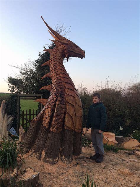 Large Dragon Head - Matthew Crabb Chainsaw Artist