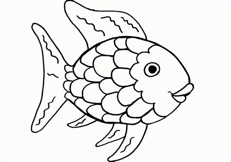 printable fish coloring pages rainbow fish printable coloring page coloring home
