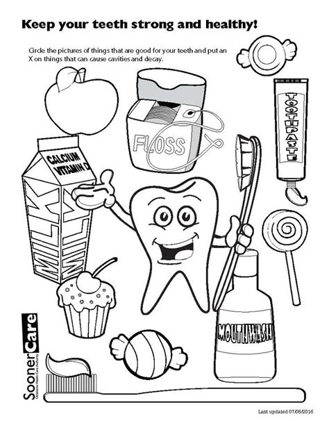 tooth coloring pages cartoon tooth  toothbrush coloring page  printable  dental