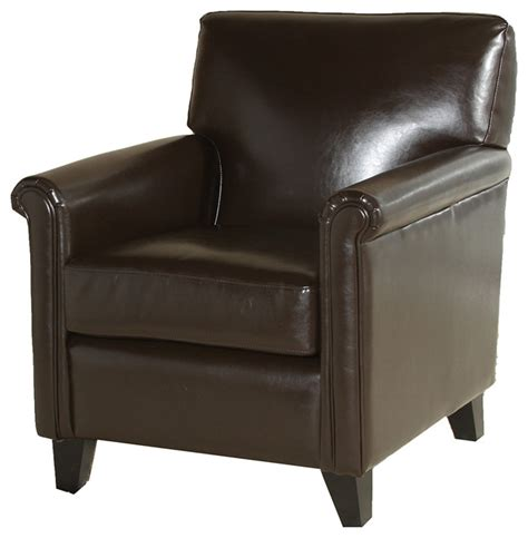 bristol leather club chair traditional armchairs and