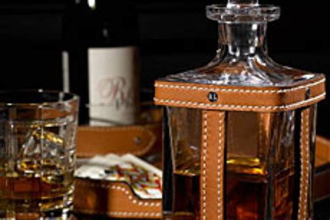 Ralph Lauren Leather-and-crystal Decanter