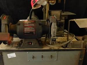 Craftsman 8 In  1 H P  Bench Grinder  Power Wire Brush