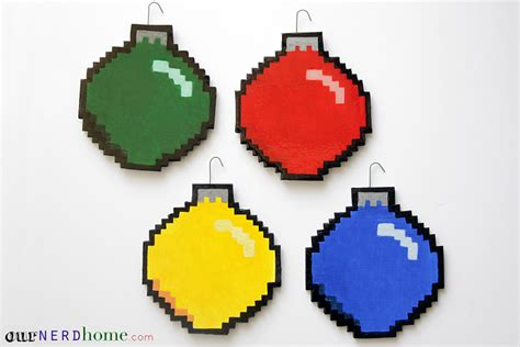 we made some diy 8 bit ornaments our home - 8 Bit Christmas Ornaments