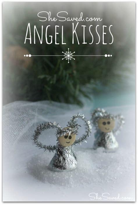 hersheys kiss angel ornament craft shesaved