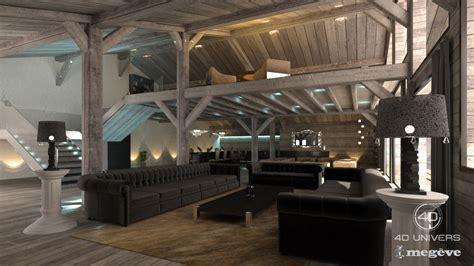 immobilier bureau interieur 3d chalet salon luxe 4d univers studio
