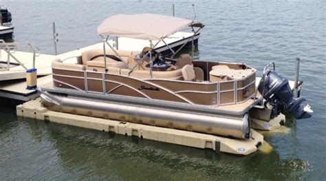 pontoon ports  ease dock lift