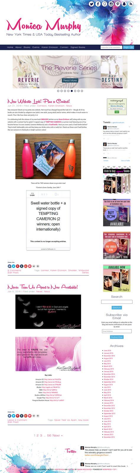 website design  author monica murphy swank web design
