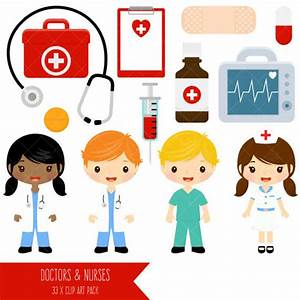 Doctor and Nurse Clipart / Cute Doctors and Nurses Clip ...