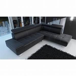 canape d39angle moderne daylon simili cuir noir design With canape angle moderne
