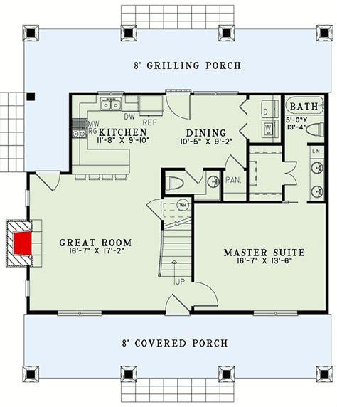 homespun cottage  sleeping loft  architectural designs house plans