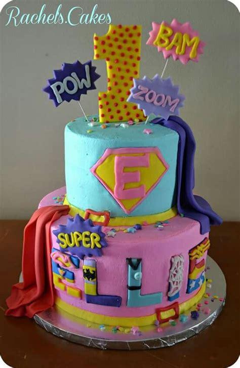 girls superhero cake  birthday  babyshower