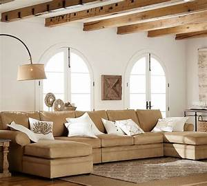 Pearce upholstered 4 piece double chaise sectional for Pearce sectional sofa pottery barn