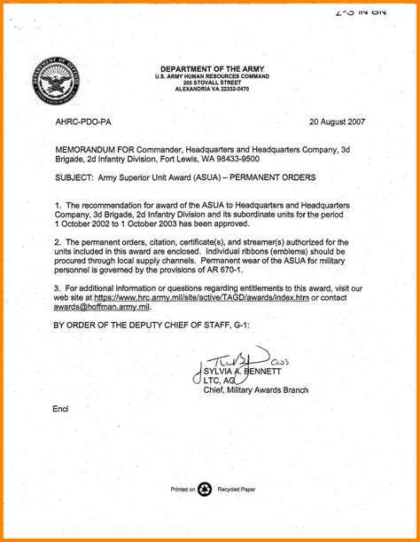 Us Army Memorandum For Record Template by 11 Army Memo Writing Manager Resume Exle