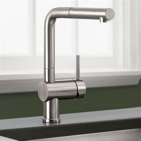 Kitchen Faucet Blanco 441335 Linus Truffle Pullout Spray Kitchen Faucets Efaucets