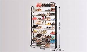 Range Chaussure Metal : meuble range chaussures 50 paires groupon ~ Teatrodelosmanantiales.com Idées de Décoration