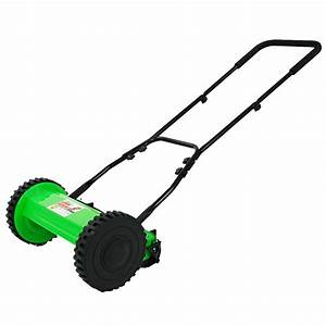 Manual Walk Behind Push Reel Lawn Mower 12 Inch Adjustable
