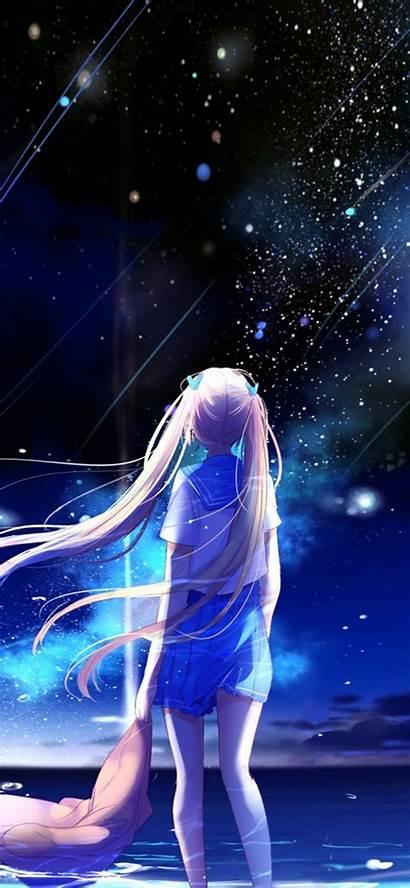 Anime Night Star Space Iphone Illustration Bc64