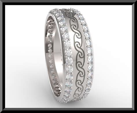 Womens Diamond Wedding Band Platinum