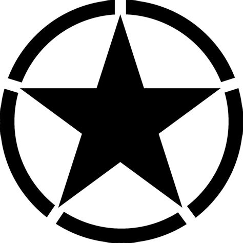 quot army army star circle jeep war wwii america american usa black on white quot stickers by